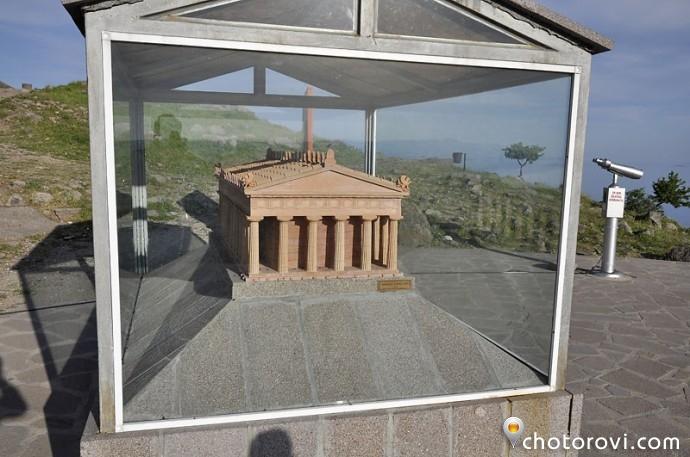 Макет на храма на Атина, Асос