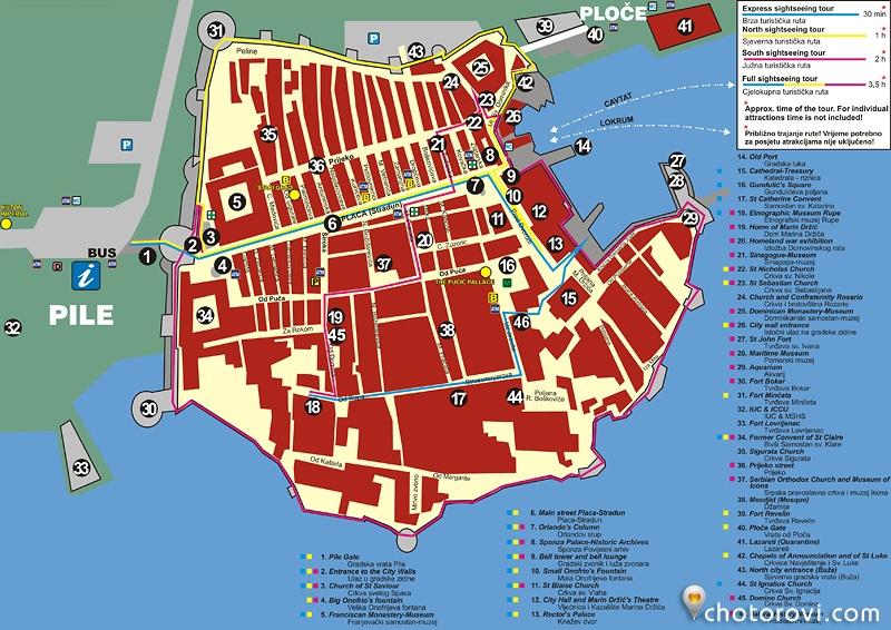 Dubrovnik_plan stari grad